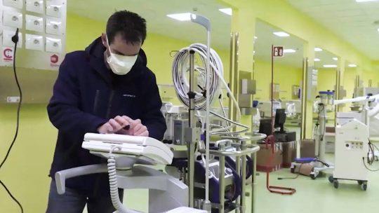 Hospitales de España e Italia al borde de colapsar