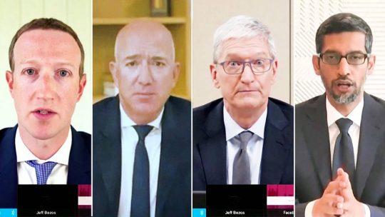 Legisladores interrogan a ejecutivos de grandes empresas tecnológicas
