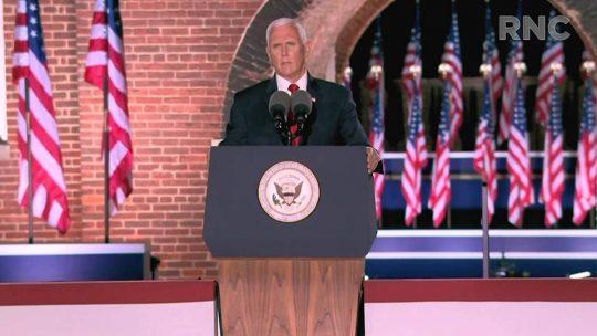 """Mike Pence sostiene ante la Convención Nacional Republicana """"Tendremos ley y orden"""""""