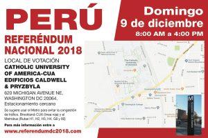 Convocatoria a peruanos a Referéndum Nacional el 9 de diciembre