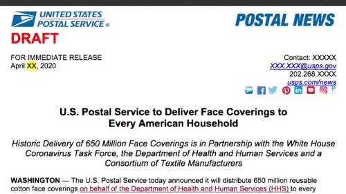 La Casa Blanca suspendió plan para enviar 650 millones de tapabocas a todos los hogares de EE.UU.