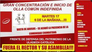 Universitarios se rebelan contra su rector en Perú