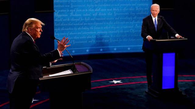 Trump y Biden cara a cara en el debate final de la campaña electoral de 2020