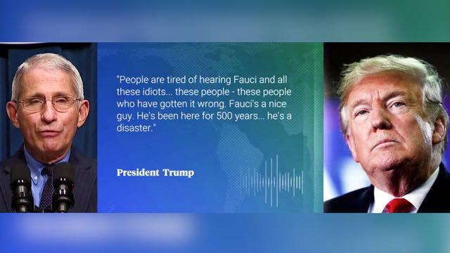 Trump continúa atacando al científico Anthony Fauci