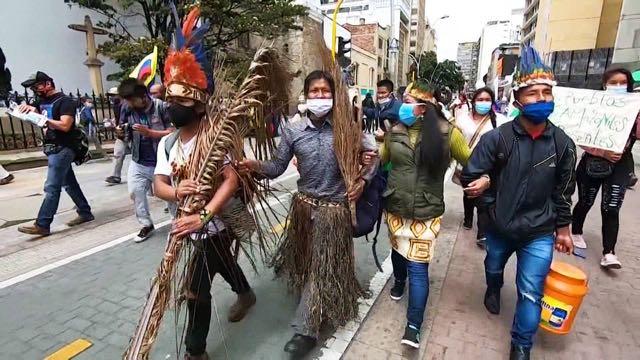 Líderes del paro nacional en Colombia exigen reunión con presidente Iván Duque