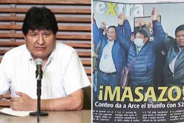 Evo Morales celebra victoria del partidoMASy dice que regresará a Bolivia