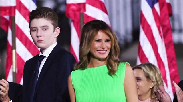 La primera dama de Estados Unidos dice que Barron Trump dio positivo por coronavirus
