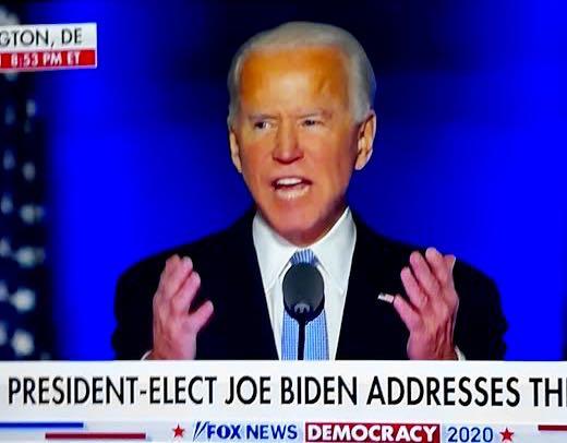 """Joe Biden: """"Me comprometo a ser un presidente que unifica"""""""