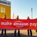 Trabajadores de Amazon exigen pago y trato justos en un día de acción mundial