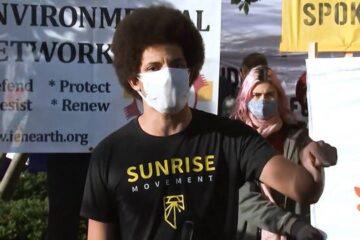 Manifestantes exigen a Biden que apoye el New Deal ecológico