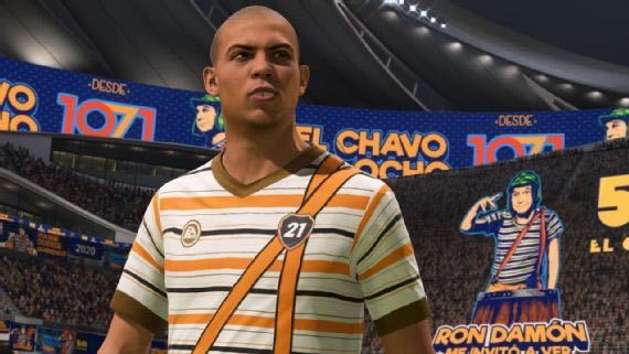 """El brasileño Ronaldo luce el uniforme de """"El Chavo del 8"""" en FIFA 21"""