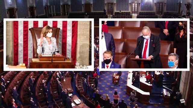 El 117.° Congreso de Estados Unidos presta juramento en medio de la pandemia