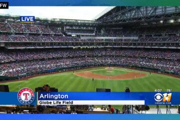 Treinta y ocho mil fanáticos se reúnen para ver el primer partido de los Texas Rangers