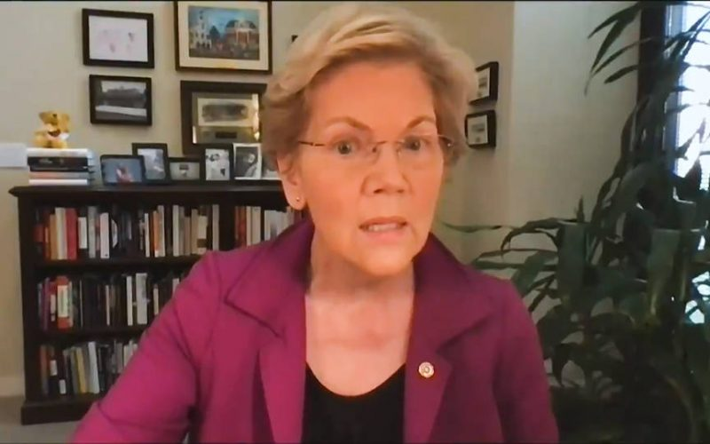 La senadora Elizabeth Warren critica a las instituciones bancarias de EE.UU. por aprovecharse de su clientes durante la pandemia