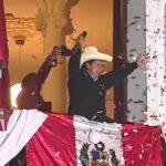 El candidato presidencial peruano Pedro Castillo  se declara vencedor