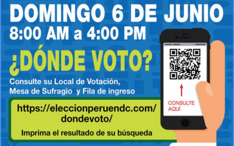 Elecciones Perú: Domingo 6 de Junio
