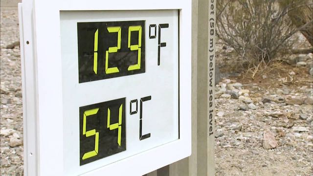 La Tierra en medio de temperaturas récord