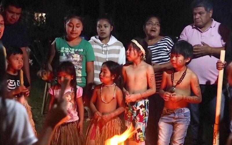Grupos indígenas se manifiestan en la capital de Brasil