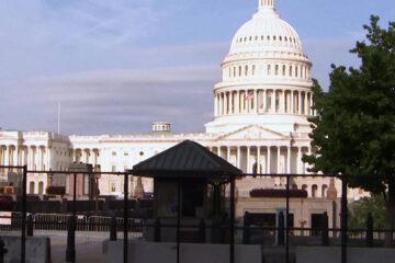 Colocan valla de seguridad alrededor del Capitolio de EE.UU.