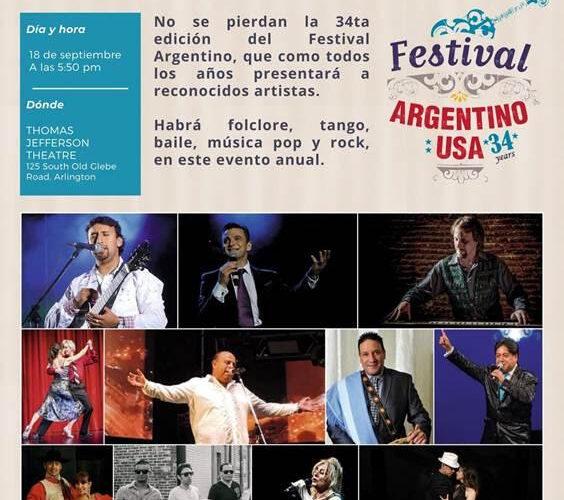 El Festival Argentino en su edición 34 en Arlington, Virginia